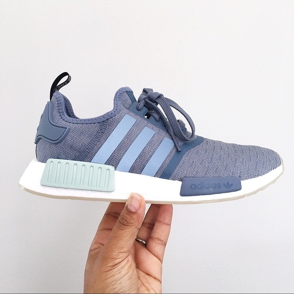 483bc5ac6f27e Adidas NMD R1 Blue Raw Steel   Cloud White Women